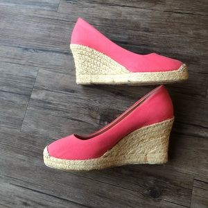 Pink J. Crew Wedges Very Cute Size 8